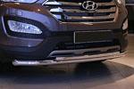 Защита переднего бампера труба d60/42 двойная для Hyundai Santa Fe 2013- (Союз-96, HYSF.48.1617)