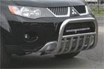 """Решетка передняя """"Mitsubishi Outlander XL"""" 2006- d 60 мини  с нижней защитой (Союз-96, MIOU.57.0478)"""