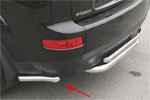 "Защита заднего бампера ""Mitsubishi Outlander XL"" 2006- d 42 ""уголки"" (Союз-96, MIOU.76.0484)"