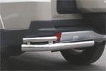 """Защита заднего бампера  """"Mitsubishi Pajero IV"""" 5-дв 2006 d 76/42 уголки двойные (Союз-96, MIPJ.76.0474)"""
