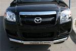 Защита переднего бампера Mazda BT-50 2007 d 76 (труба) с накладкой (Союз-96, MABT.48.0466)