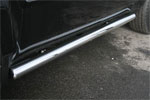Пороги труба Honda Pilot 2008 d 76 (компл 2шт) (Союз-96, HPIL.80.0720)