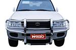 Защита переднего бампера (кенгурятник) Toyota Land Cruiser 100 1998- (Winbo, A090224)