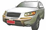 Накладка на передний бампер Hyundai Santa Fe 2006- (Winbo, А130399)