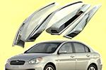 Дефлекторы окон Hyundai Accent 2006- (AUTOCLOVER, A443)