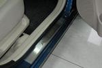 Накладки на внутренние пороги (нерж.) для Hyundai Accent III 3D 2006- (Nata-Niko, P-HY01)