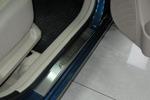 Накладки на внутренние пороги (нерж.) для Hyundai Accent III 5D 2006- (Nata-Niko, P-HY02)