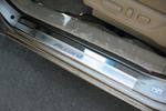 Накладки на внутренние пороги (нерж.) для Honda Accord USA 2008- (Nata-Niko, P-HO03)