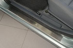 Накладки на внутренние пороги (нерж.) для Nissan Almera Classic 2006- (Nata-Niko, P-NI02)