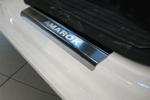 Накладки на внутренние пороги (нерж.) для Volkswagen Amarok 2010- (Nata-Niko, P-VW01)