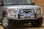Передний бампер Land Rover Discovery III с дугой Deluxe W/BAR WITH FOG LIGHT PROVISION под лебёдку (ARB, 3432150)