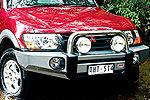 Передний бампер Mitsubishi Pajero III (V60) 00-03 5D с дугой Sahara BAR NM (NOT EXCEED) NO FOG (ARB, 3934020)