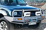 Передний бампер Mitsubishi L200 98-05 с дугой Deluxe 02ON INC SRS под лебёдку (ARB, 3446060)