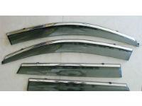 Дефлекторы окон (с молдингом из нерж. стали) для Nissan Qashqai (J11/ Mk2) 2014+ (ASP, BNSQS1423-W/S)
