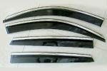 Дефлекторы окон (с молдингом из нерж. стали) для BMW X6 (E71) 2013-2014 (ASP, BBMWX61423-W/S)