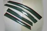 Дефлекторы окон (с молдингом из нерж. стали) для Hyundai SantaFe (IX45) 2012+ (ASP, BHYI451323-W/S)