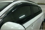 Дефлекторы окон (с молдингом из нерж. стали) для Mitsubishi Outlander 2013+ (ASP, BMTOT1323-W/S)