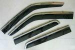 Дефлекторы окон (с молдингом из нерж. стали) для Nissan Juke 2010+ (ASP, BNSJK1423-W/S)