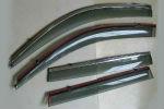 Дефлекторы окон (с молдингом из нерж. стали) для Toyota Land Cruiser 200 2008+ (ASP, BTYLD0823-W/S)
