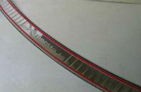 Накладка на задний бампер (тонкая) для Mitsubishi Lancer X 2010+ (ASP, BMTLC0913-L)
