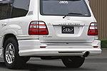 Спойлер заднего бампера Lexus LX 470 98- with Single Tail Exhaust (Jaos, 820020)