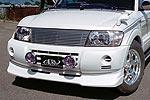 Спойлер переднего бампера Mitsubishi Pajero V series 02- (Jaos, 807312)