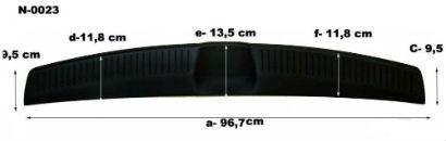 Накладка на задний бампер для Hyundai I30 HB 2012+ (Automotiva, N-0023)