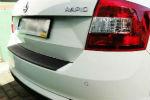 Накладка на задний бампер для Skoda Rapid / Skoda Rapid Spaceback 2013+ (Automotiva, N-0036)