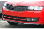 Накладка на передний бампер для Skoda Rapid 2012+ (AutoPlast, SRFB2012)