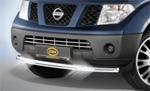 Защита передняя Cityguard со светодиодными фарами на Nissan Navara D40 2010- (Cobra, NIS1703)