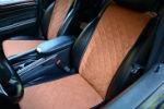 Накидки на сиденья автомобиля (передние и задние, к-кт. 5 шт.) (AVTOРИТЕТ, brown)