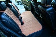 Накидки на сиденья автомобиля (задние, к-кт. 3 шт.) (AVTOРИТЕТ, brown)