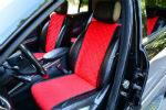 Накидки на сиденья автомобиля (передние и задние, к-кт. 5 шт.) (AVTOРИТЕТ, red)
