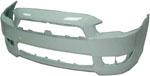 Передний бампер (без отверстий под омыватель ) для Mitsubishi Lancer X 2007 - (Tesma, NL3719900)