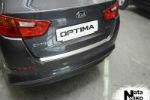 Накладка на задний бампер для Kia Optima III FL 2013+ (NataNiko, B-KI09)