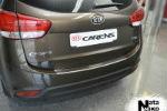 Накладка (с загибом) на задний бампер для Kia Carens IV 2012+ (NataNiko, Z-KI10)
