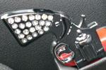 Обманка ремня «Пистолет» (серебро) (BGT-PRO, BGT-OBMR-PS4)