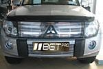 Гриль - накладка на решетку радиатора Mitsubishi Pajero 2007- (BGTPro)