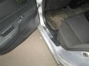 Накладки на пороги для Mitsubishi Lancer IX 2005-2008 (Alu-Frost, 08-0605)