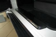 Накладки на пороги для Mitsubishi Pajero Wagon 2003+ (Alu-Frost, 08-0607)