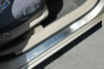 Накладки на пороги для Hyundai Accent 2006-2011 (Alu-Frost, 08-0657)