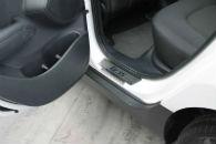 Накладки на пороги для Hyundai IX35 2010+ (Alu-Frost, 08-0677)