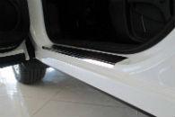 Накладки на пороги для Nissan Qashqai II 2014+ (Alu-Frost, 08-0817-2014)