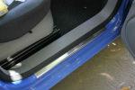Накладки на пороги для Volkswagen Caddy 2004+ (Alu-Frost, 08-0967)