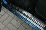 Накладки на пороги для Chevrolet Aveo I 2002-2011 (Alu-Frost, 08-1051)