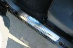 Накладки на пороги для Chevrolet Lacetti 2004+ (Alu-Frost, 08-1055)