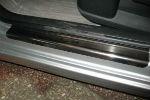 Накладки на пороги для Citroen C4 I (3D) 2004+ (Alu-Frost, 08-1155)
