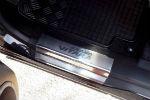 Накладки на пороги для Suzuki Grand Vitara II (5D) 2005+ (Alu-Frost, 08-1459)
