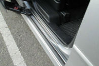 Накладки на пороги для Mazda 5 2005+ (Alu-Frost, 08-1759)