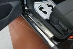 Накладки на пороги для Volkswagen Golf VII (5D) 2012+ (Alu-Frost, 08-1887)